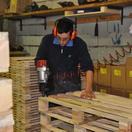 Reparto produzione pallets fuori standard